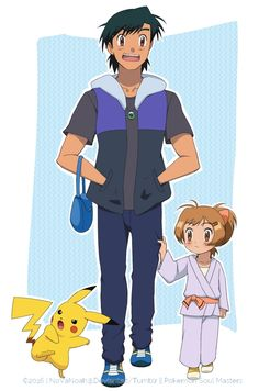 Ash Ketchum and Pikachu ^.^ ♡ #Amourshipping ^.^ ♡ Ash looks good as an adult