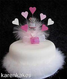 BALLERINA BIRTHDAY CAKE TOPPER PINK AND WHITE | eBay