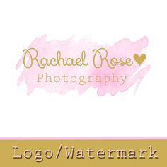 Premade Logo  - Photography Watermark - Gold Logo -Etsy logo - Heart Watermark - logo design - Watercolor Logo - Professional Logo by lilpinkzebradesigns on Etsy