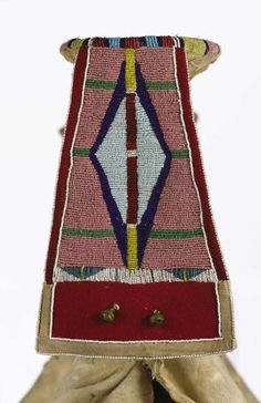 American Indian Art:Beadwork, A CROW WOMAN'S BEADED HIDE PARADE SADDLE. c. 1890. ... (Total: 1Pieces)