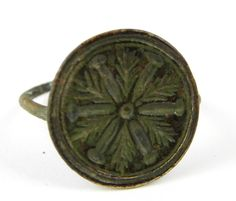 Ancient Roman Empire Antique Metal Signet Ring Size T - The Collectors Bag Antique Metal, Antique Rings, Roman Jewelry, Ancient Romans, Signet Ring, Roman Empire, Jewellery, Antiques, Bag