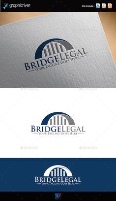 Bridge Legal Logo: Symbol Logo Design Template created by REDVY. Logo Design Template, Logo Templates, Bridge Logo, Name Logo, Symbol Logo, Monogram Logo, Creative Logo, Logo Design Inspiration, Company Names