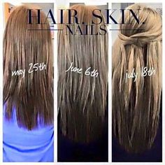 look at these awesome results after 2 months taking it works hair skin nails call - Color Out Avant Apres