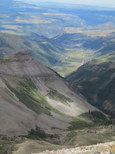 I jeeped up to Imogene Pass (CO) Aug 2012. Photo is looking west towards the Telluride Airport. (Nancy Leifker)