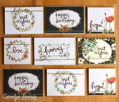 Hello Lovely Project Life Tutorial – turn your Project Life Card Packs into fab cards. Free full tutorial at carolynbennie.com