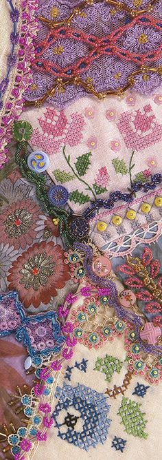 PATTERN: I ❤ crazy quilting & embroidery . . .  ~By Nancy Eha/fascinating bead work