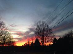 Fall landscape sunset