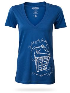 Can I get this if I'm no longer a bride? ThinkGeek :: Doctor Who Something Blue V-Neck Babydoll