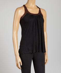 The back on this is amazing!!! Take a look at this Black & Brown Tank I bought at zulily today!