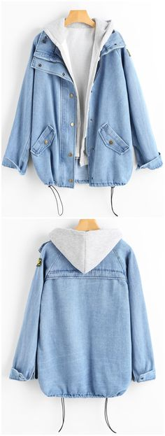 Up to 68% OFF! Button Up Denim Jacket And Hooded Vest. #Zaful #Jackets Zaful,zaful outfits,zaful sweaters,fashion,style,tops,outfits,blouses,sweatshirts,hoodies,cardigan, sweater,jackets,coats,outwear,leather jackets,bomber jacket,long coats,denim jacket,black jackets,zip up jackets,fall,winter,winter outfits,winter fashion,fall fashion,fall outfits,christmas,ugly,ugly christmas,thanksgiving,Gift, New Year 2017, New Year Eve. @zaful Extra 10% OFF Code:ZF2017