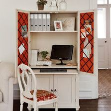 Home Office - Hideaway study cupboards - The Dormy House #thedormyhouse