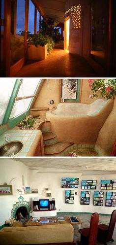 Interior of an earthship