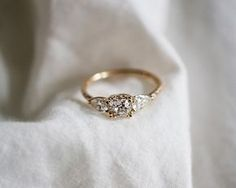 Bespoke vintage diamond engagement ring.