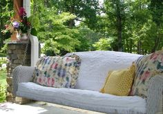 Front Porch Makeover Summer 2010 - traditional - porch - charlotte - Anna Looper