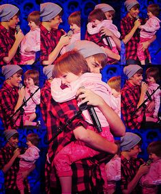Justin Bieber and his little sister, very cute