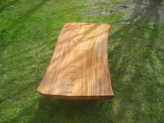 Large Red Elm Coffee Table