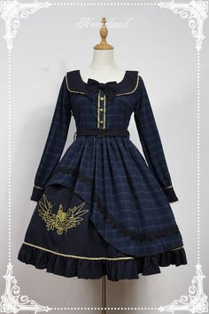 Neverland Lolita -Prospective Student- Embroidery Long Sleeves Lolita OP Dress