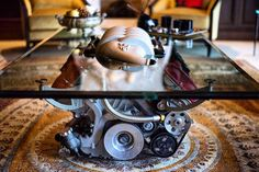 It's just magnificent.  Our first Maserati V8 Engine Coffee Table ever..............For more luxurious and lavish engine designs be sure to follow @tombatesdesign!  For any inquiries please feel more than welcome to email nicolo@tombatesdesign.com.............................................................................................. #ferrari #lamborghini #maserati #porsche #gtr #bmw #beautiful #astonmartin #rollsroyce #mclaren #gumball #blondes #beautiful #mercedesamg #supercar #babes…