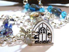 Fairy Door Locket Necklace  Hobbit Door by MURPHYSTREASURES2, $29.95