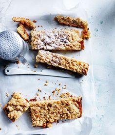 Pear crumble slice recipe :: Gourmet Traveller