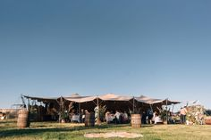 Rustic Stretch tent wedding from the team at Event Avenue