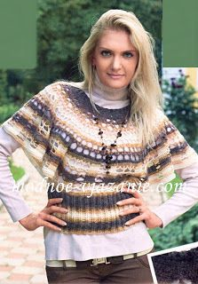 Receitas de Crochet: Blusa de Croche e trico tipo pelerine