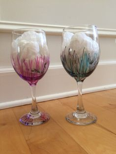 A personal favorite from my Etsy shop https://www.etsy.com/listing/249434032/his-and-her-wine-glasses