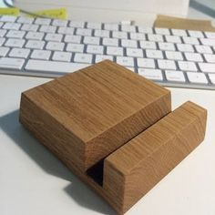 Wooden Cable Organizer – Cable Organizer for Desk Cable Management & Charger Organizer Handmade of Natural Oak, Cool Gift for Office Desk Iphone 8, Iphone Stand, Charging Station Organizer, Cable Organizer, Organize Cables, Wooden Ipad Stand, Breathe, Benefit, Desktop
