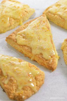 Citrus Scones Recipe with Orange Glaze from addapinch.com @addapinch