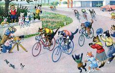 Alfred Mainzer, Cat Bike Race.