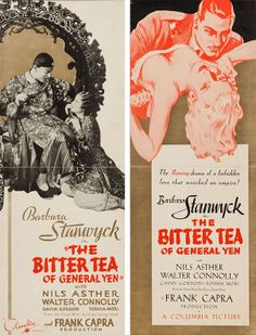 US promotional flyers for The Bitter Tea of General Yen (Frank Capra, USA, 1933).