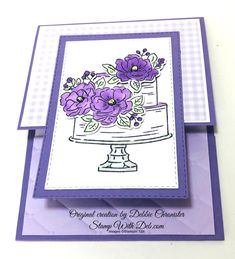 Free Tutorial & Card Kit with an order on my Stampin' Up! web page by the end of February 2020 Birthday Cake Card, Birthday Wishes Cards, Happy Birthday Cakes, Doodle, Diy Kit, Interactive Cards, Stamping Up Cards, Scrapbooking, Folded Cards