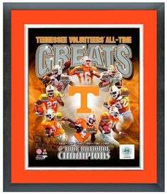 "Tennessee Volunteers All-Time Great Players - 11""x 14"" Framed and Matted Photo"