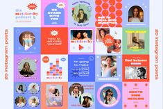 Matriarchy Canva Retro Podcast Insta by Luna Studio on @creativemarket Social Media Banner, Social Media Template, Social Media Design, Instagram Story, Instagram Posts, Retro Futuristic, Colour Images, Special Guest, Photoshop