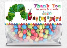 Very Hungry Caterpillar Birthday Favor Bag Toppers