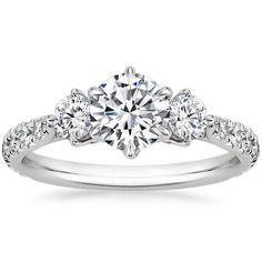 Diamond wedding band looks like something out of Frozen.