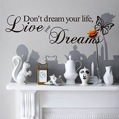 Dont Dream Your Life Live Your DreamsVinyl Wall Quote StickerMural Art Decals Decorator 8142 225 X 6 5715cm *** For more information, visit image link.