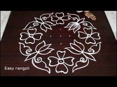 flower kolam designs with 9 dots *easy rangoli designs *simple muggulu with dots * atest rangavalli Simple Rangoli Designs Images, Small Rangoli Design, Rangoli Ideas, Rangoli Designs Diwali, Rangoli Designs With Dots, Rangoli With Dots, Beautiful Rangoli Designs, Simple Designs, Mehndi Designs
