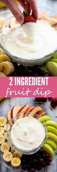 This dip is ready in about 60 seconds and SO delicious! Fruit Appetizers, Appetizer Dips, Appetizers For Party, Fruit Dips, Fruit Snacks, Fruit Trays, Fruit Fruit, Fruit Cakes, Party Desserts