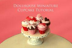 Tutorial  How to Make Valentine's Cupcakes by HummingbirdMiniature, $19.95