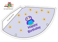 Free Printable Cute Owl Birthday Party Hats Ava 2nd bday ideas