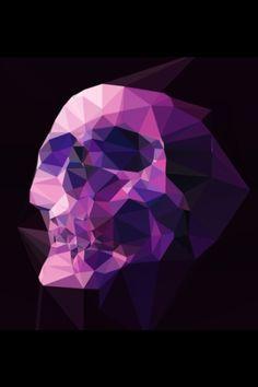 Purple Geo Skull