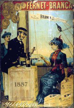 Vintage Italian Posters ~ #illustrator #Italian #posters ~ Fernet Branca.