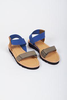Reality Studio sandals - blue / khaki - @saphorshop