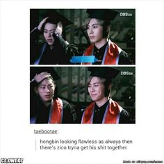 graduation day!lol at zico tho!kong looks like the perfect student and zico is like the bad-ass gangster!!