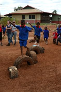 The ol' tyre. Photo by Jim Stewart of the Early Childhood Learning Centre.
