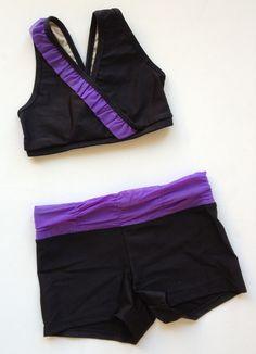 Sadie Jane Dancewear - Black with Purple Trim Blackbird, $50.00 (http://www.sadiejane.com/black-with-purple-trim-blackbird/)