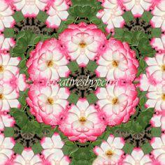 Mandala Kaleidoskop ''Rose rosa''  Kreatives by Petra #mandala 'kaleidoskop #spiegelung #reflektion #reflection #innereruhe #inspiration #roses #rose #rosa #pink  #blumen #flowers #blüten #blossom #frühling #spring #sommer #summer #garten #garden Rose Rosa, Petra, Floral Wreath, Wreaths, Pink, Inspiration, Decor, Mandalas, Mosaics
