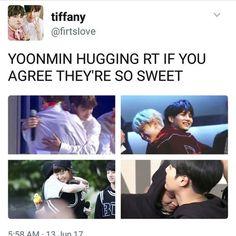 Yoonmin hugging