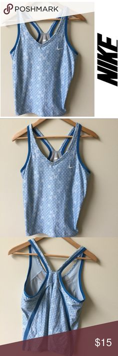 Nike dry-fit racer back tank - size large Great condition! Nike dry fit racer back tank with built in bra. Size large Nike Tops Tank Tops